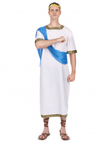 Déguisement dieu Grec bleu homme