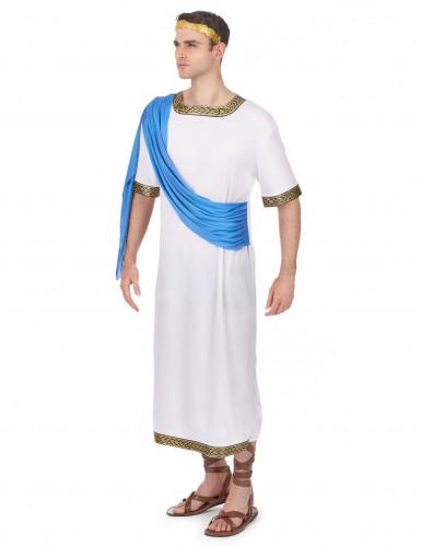 Déguisement dieu Grec bleu homme-1