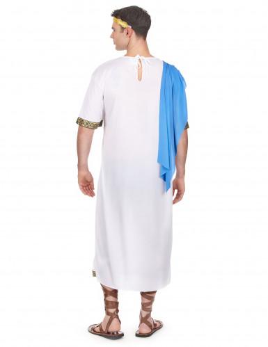Déguisement dieu Grec bleu homme-2