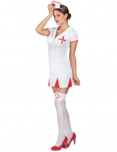 Déguisement infirmière robe courte femme-1