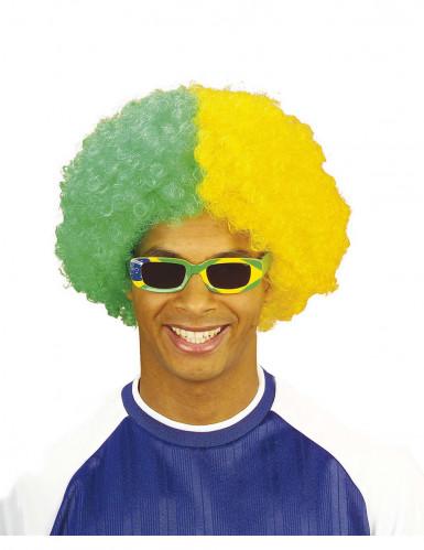 Perruque supporter Brésil adulte