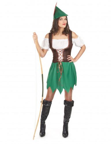 Déguisement femme des bois vert