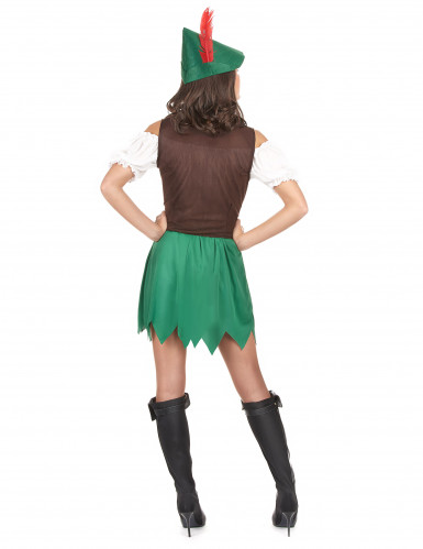 Déguisement femme des bois vert-2
