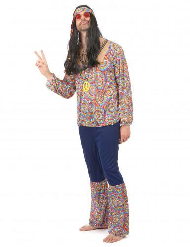 Déguisement hippie motif psychédélique homme-1