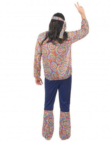 Déguisement hippie motif psychédélique homme-2