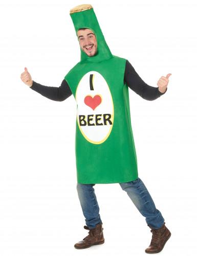 Déguisement bouteille de bière verte adulte-1