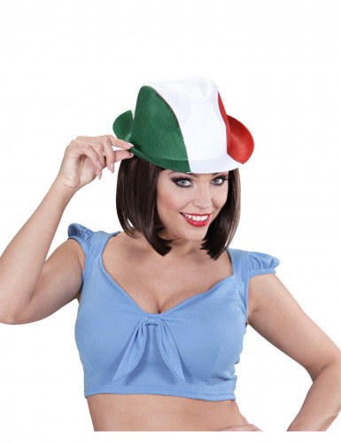 Chapeau borsalino supporter Italie adulte