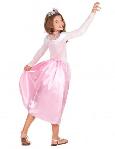 Déguisement princesse rose avec diadème fille-2