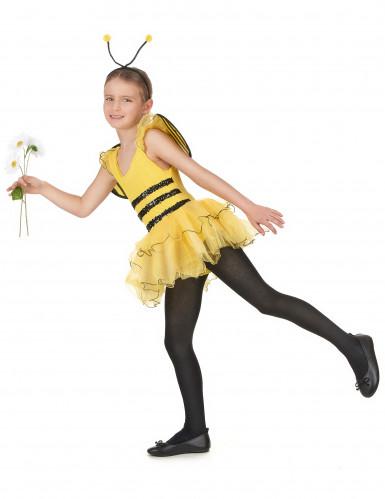 Déguisement abeille fille jaune à sequins-1