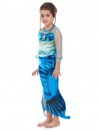 Déguisement sirène bleue fille-1