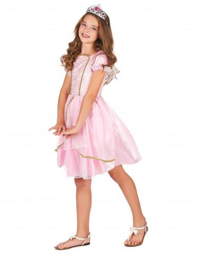 Déguisement princesse rose à paillettes fille-1