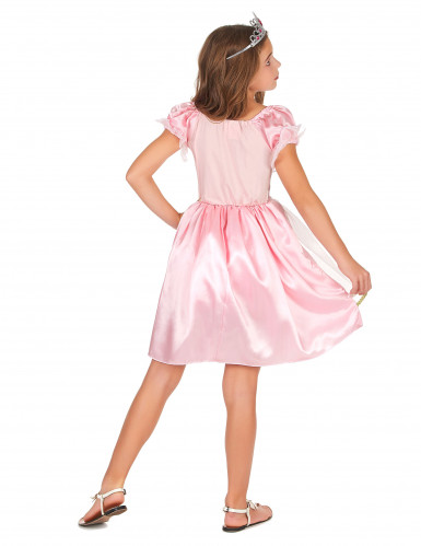 Déguisement princesse rose à paillettes fille-2