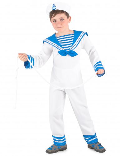 Déguisement marin bleu et blanc garçon-1