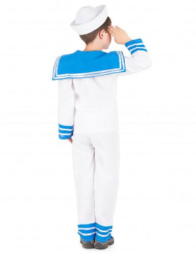 Déguisement marin bleu et blanc garçon-2