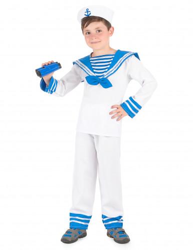 Déguisement marin bleu et blanc garçon