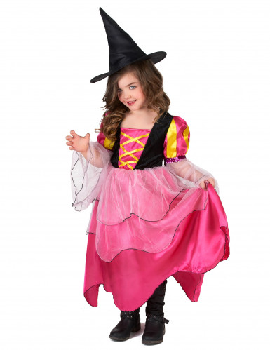 Déguisement sorcière rose fille-1