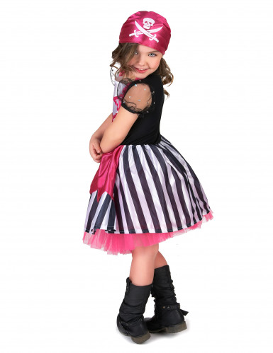 Déguisement pirate robe rose fille-2