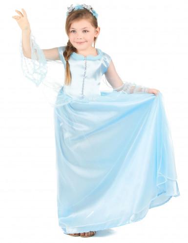 Déguisement princesse bleue claire fille-1