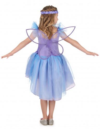 Déguisement fée violette voile bleu fille-2