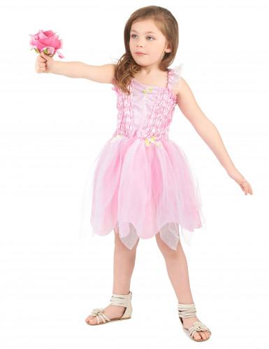Déguisement fée princesse rose fille-1