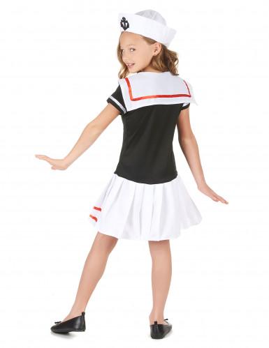 Déguisement marin noir et blanc fille-2