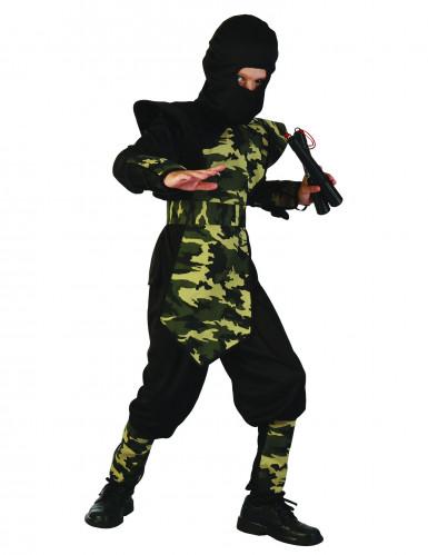 Déguisement ninja militaire plastron garçon