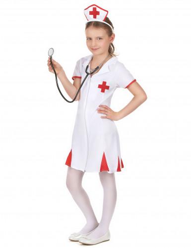 Déguisement infirmière rouge et blanc fille-1