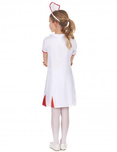 Déguisement infirmière rouge et blanc fille-2