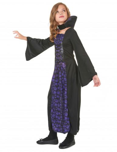 Déguisement vampire violet et noir fille-1