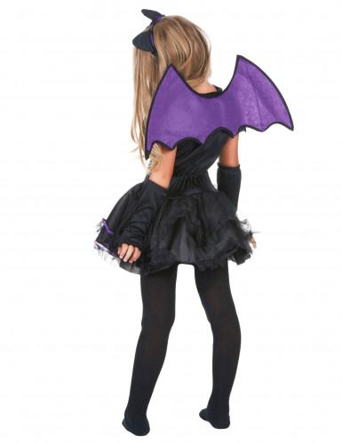 Déguisement chauve-souris noire et violette fille-2