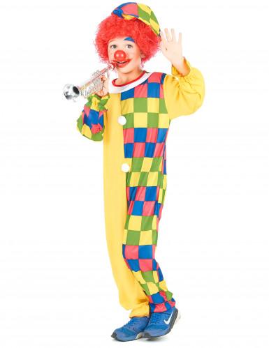 Déguisement clown à carreaux garçon-1