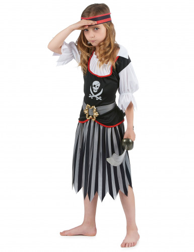 Déguisement pirate motif tête de mort fille-1