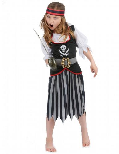 Déguisement pirate motif tête de mort fille