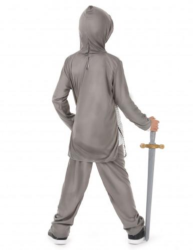Déguisement chevalier gris garçon-2