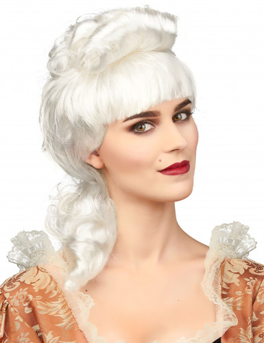 Perruque noble blanche femme