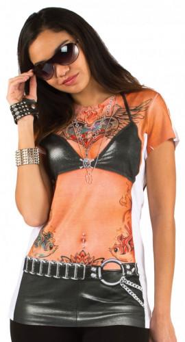 T-Shirt tatouages femme