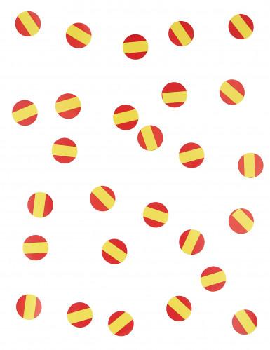 150 confettis de table drapeau Espagne-1