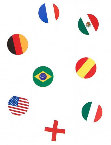 150 Confettis de table drapeau multi-nations