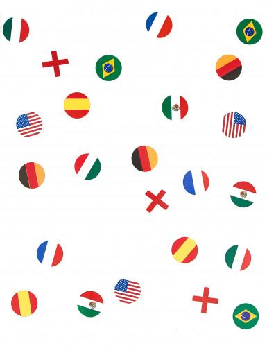 150 Confettis de table drapeau multi-nations-1