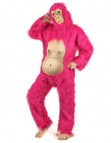 Déguisement gorille rose et latex adulte-1