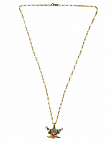 Collier doré pirate adulte