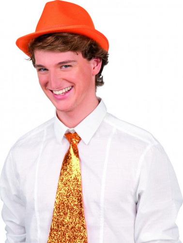 Chapeau borsalino orange adulte