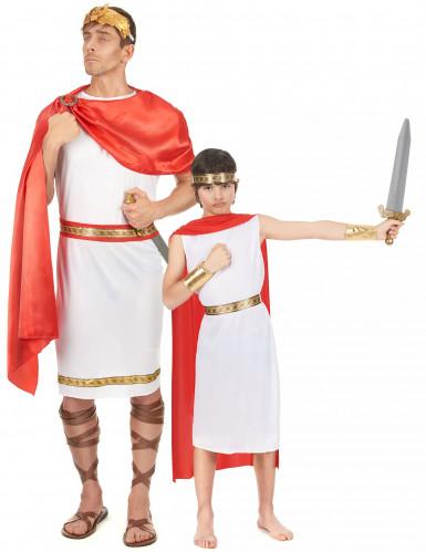 Déguisement de couple romains père et fils