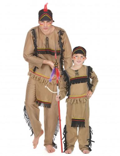 Déguisement de couple apache père et fils