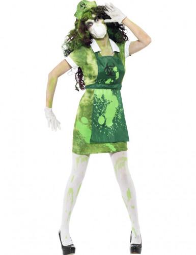 Déguisement zombie chercheur nucléaire femme Halloween