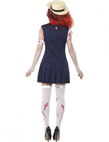 Déguisement zombie écolière rétro femme-2