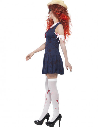 Déguisement zombie écolière rétro femme-1