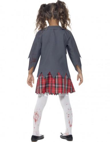 Déguisement zombie écolière fille Halloween-2