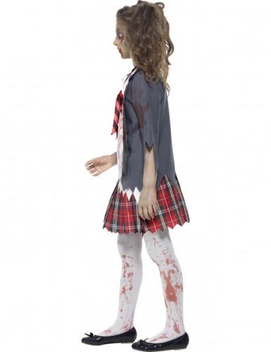 Déguisement zombie écolière fille Halloween-1