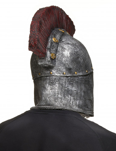 Masque intégral squelette combattant romain adulte Halloween-1